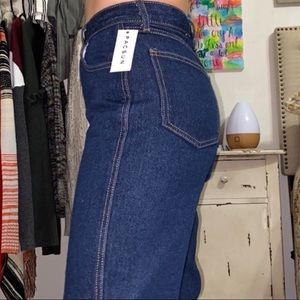 BRANDY MELVILLE JOHN GALT Dark jeans straight leg